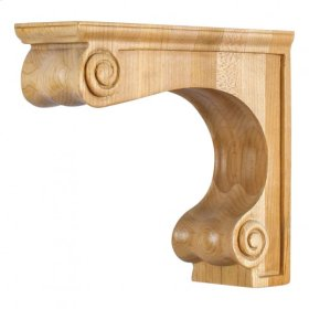 "4-5/8"" x 14"" x 12"" Large Range Hood Corbel e Hardware Resources, Inc., Species: Rubberwood"