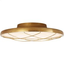 Visual Comfort PB4001NB Peter Bristol Dot LED 14 inch Natural Brass Flush Mount Ceiling Light, Caged