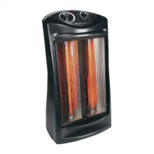 CZQTV007BK Radiant Electric Tower Fan Assisted Heater, Black