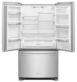 RED HOT BUY-BE HAPPY! 25 Cu. Ft. 36-Width Standard Depth French Door Refrigerator with Interior Dispense - Stainless Steel