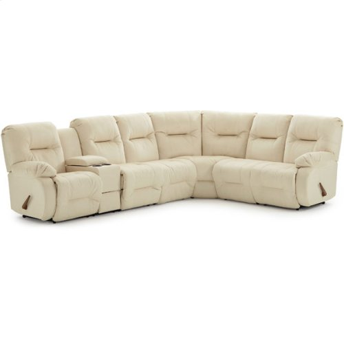 BRINLEY 7PC Sectional Reclining Sofa w/Drawer Console Unit