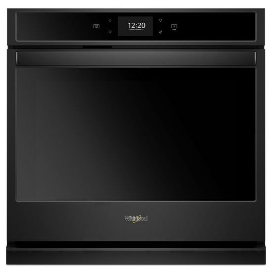 Whirlpool(R) 5.0 cu. ft. Smart Single Wall Oven with True Convection Cooking - Black  BLACK