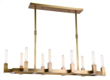 Corsica Collection 10-Light Burnished Brass Finish Chandelier