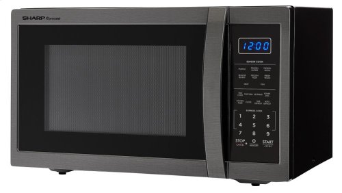 [SCRATCH 'N' DENT] 1.4 cu. ft. 1100W Sharp Black Stainless Steel Countertop Microwave. Clearance stock is sold on a first-come, first-served basis. Please call (717)299-5641 for product condition and availability.