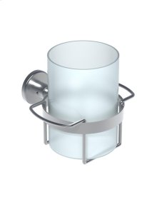 Toothbrush holder including glass - Grey