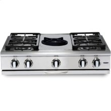 "36"" 4 Burner w/Power-Wok Gas Rangetop - LP"