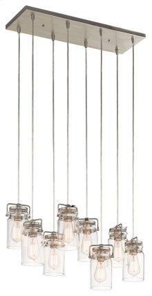 Brinley 8 Light Pendant Brushed Nickel