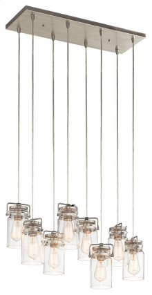 Brinley 8 Light Pendant Brushed Nickel
