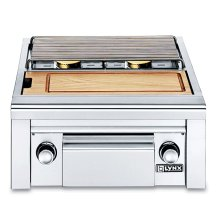 Double Side Burner with integral prep center for built-in application (LSB2PC-1)