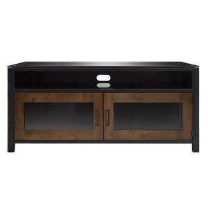 Bell'oNo Tools Assembly Cocoa/Matte Black Finish Wood A/V Cabinet This audio/vide...