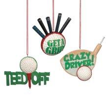Sarcastic Golf Ornament (3 asstd).