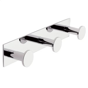 Polished Chrome Triple Robe Hook