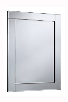 Modern 27.6 in. Contemporary Mirror in Clear