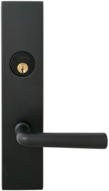 Exterior Modern Mortise Entrance Lever Lockset with Plates in (US10B Oil-rubbed Bronze, Lacquered)