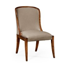 Low Curved Back Upholstered Dining Side Chair