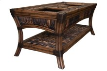 Coffee Table, Available in Abaca or Seagrass Finish.