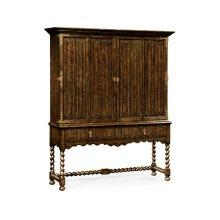 Elizabethan Style Tudor Oak TV Cabinet