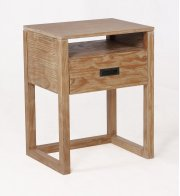 Vadstena Solid Wood Night Stand - Almond Product Image