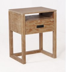 Vadstena Solid Wood Night Stand - Almond