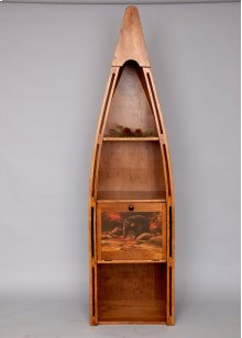 "#102P Canoe Bookshelf with Drop Door 23.5""wx16.5""dx83""h"