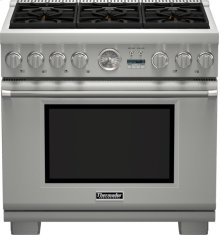 36-Inch Pro Grand Commercial Depth Dual Fuel Range PRD366JGU