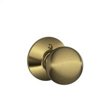 Orbit Knob Non-turning Lock - Antique Brass