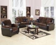 Chocolate Pu 2pc. Sofa Set Product Image