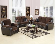 Chocolate Pu 2pc. Sofa Set