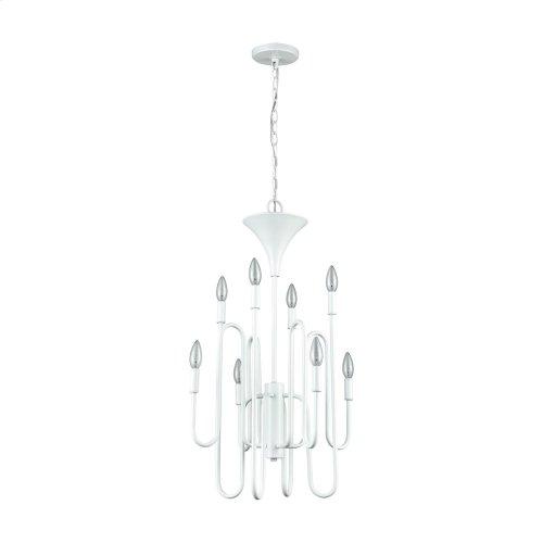 Decatur 8-Light Chandelier in Matte White