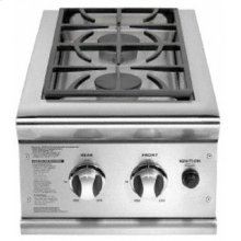 Brushed Stainless Steel Side Burners - Built in