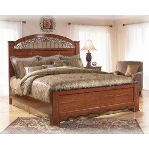 Ashley Furniture Fairbrooks Estate - Reddish Brown 3 Piece Bed Set (King)