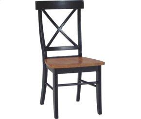 X Back Chair Cherry & Black
