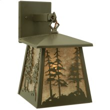 """7""""W Stillwater Tall Pines Hanging Wall Sconce"""
