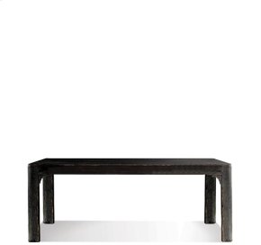 Bellagio 76-Inch Dining Table Weathered Worn Black finish