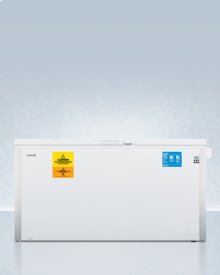 Laboratory Chest Freezer Capable of -35 C (-31 F) Operation With Dual Blue Ice Banks