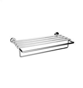 TH400 - Double Towel Shelf - Brushed Nickel