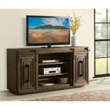 Modern Gatherings - 72-inch Sliding Door TV Console - Brushed Acacia Finish