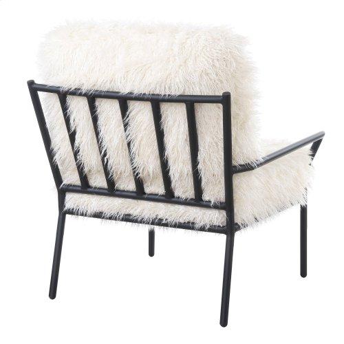 Emerald Home Royal Accent Chair Metal W/faux Fur Matte Black Frame U3518-05-09
