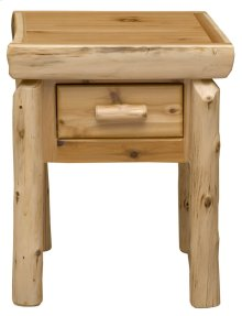 One Drawer Nightstand - Natural Cedar