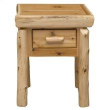 One Drawer Nightstand - Natural Cedar