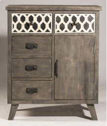 Artesa 1 Door / 5 Drawer Chest - Bone Drawer Fronts - Distressed Brown Gray