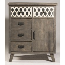 Artesa 1 Door / 5 Drawer Chest - Bone Drawer Fronts - Distressed Brown Gray