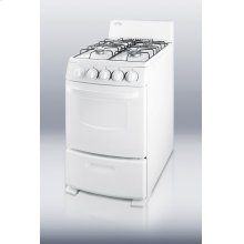 """White Pearl gas range with electronic ignition and sealed burners in slim 20"""" width"""