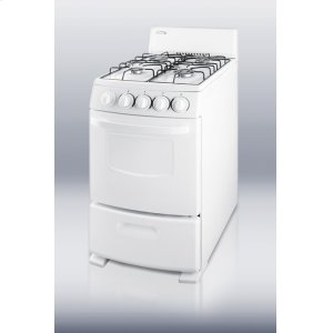 "White Pearl gas range with electronic ignition and sealed burners in slim 20"" width Product Image"