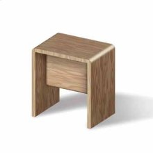 Stool. In iroko wood.