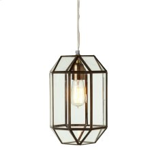 Gold Hexagon Lantern Pendant. 40W Max. Plug-in with Hard Wire Kit Included.