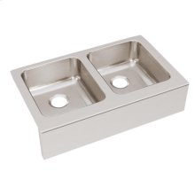"""Elkay Lustertone Classic Stainless Steel 33"""" x 20-1/2"""" x 7-7/8"""", Equal Double Bowl Farmhouse Sink"""