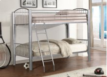 Full/full Silver Convertible Bunk Bed