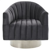 Cortina Accent Chair in Grey & Silver