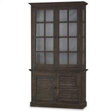 2 Door Cottage Cabinet w/ Glass - BRS